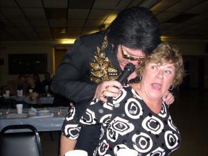 Elvis Straddles Diana