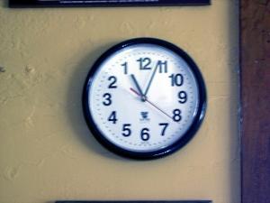26 Clock time reversed