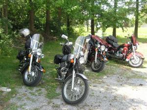 Bikes waiting for riders