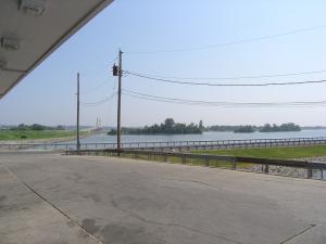 3. Looking east at the Clark Bridge