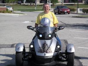 1. George Warren on his Can-Am Spyder