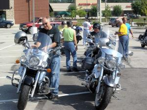 4. Members gathering to ride