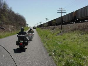 along the tracks1