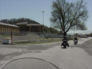 at the prison