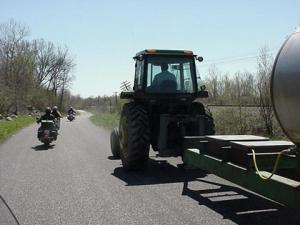 passin a tractor